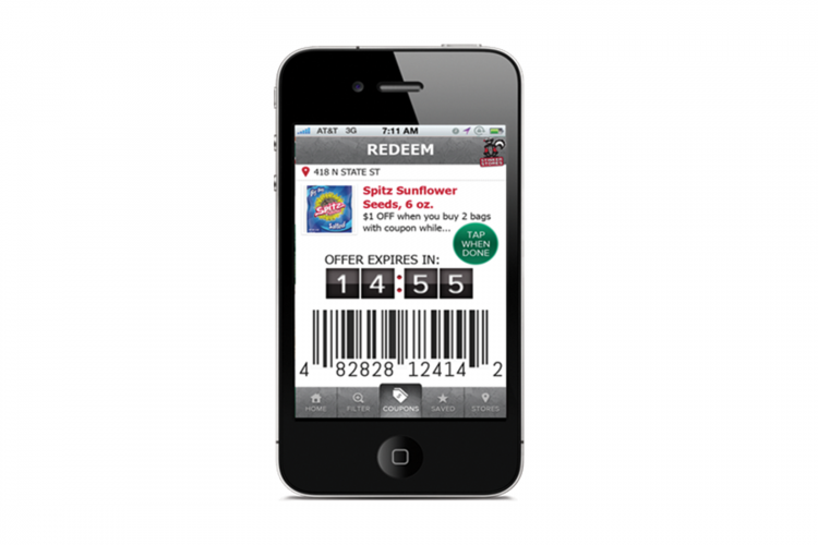 manufacturer mobile coupon example